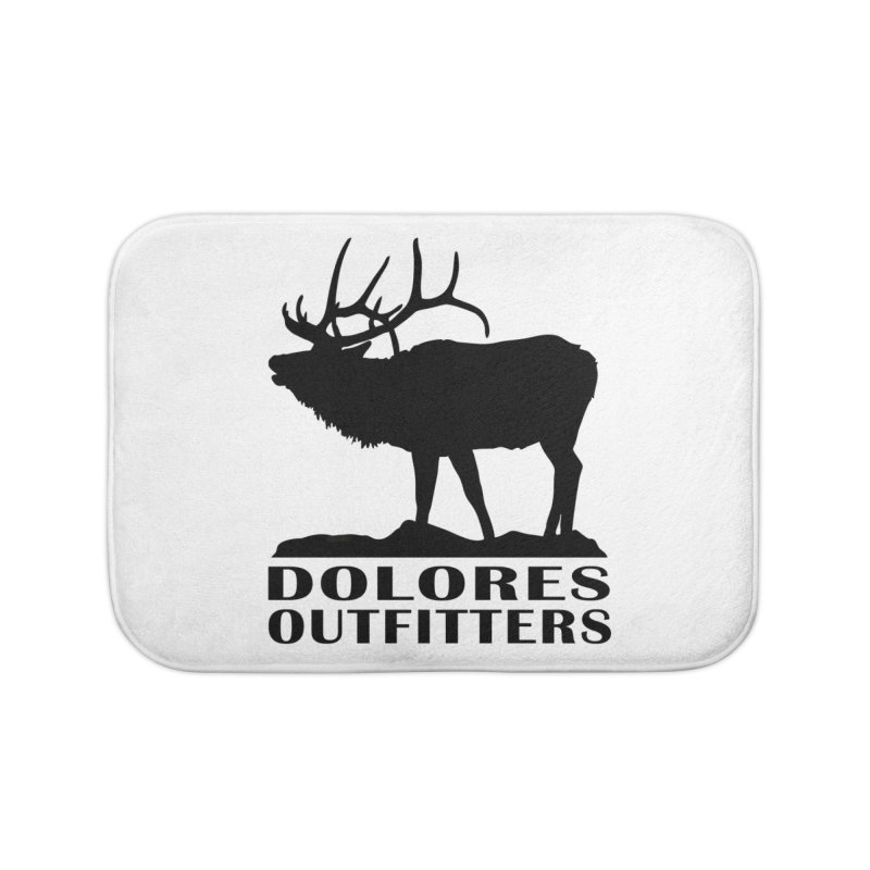 Elk Pocket Design - Black Home Bath Mat by dolores outfitters's Artist Shop