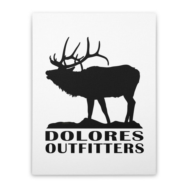 Elk Pocket Design - Black Home Stretched Canvas by dolores outfitters's Artist Shop