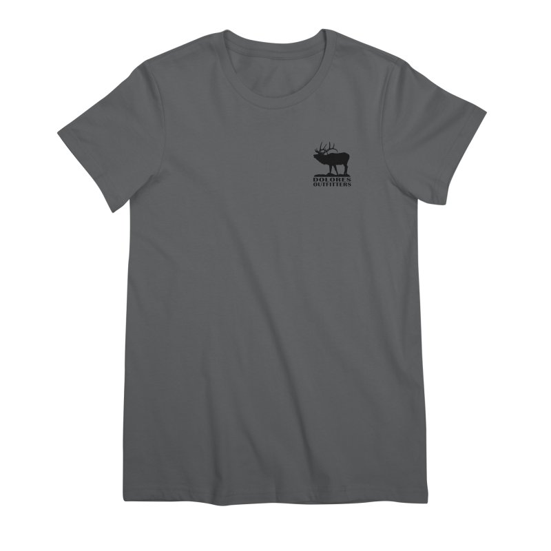 Elk Pocket Design - Black Women's Premium T-Shirt by dolores outfitters's Artist Shop