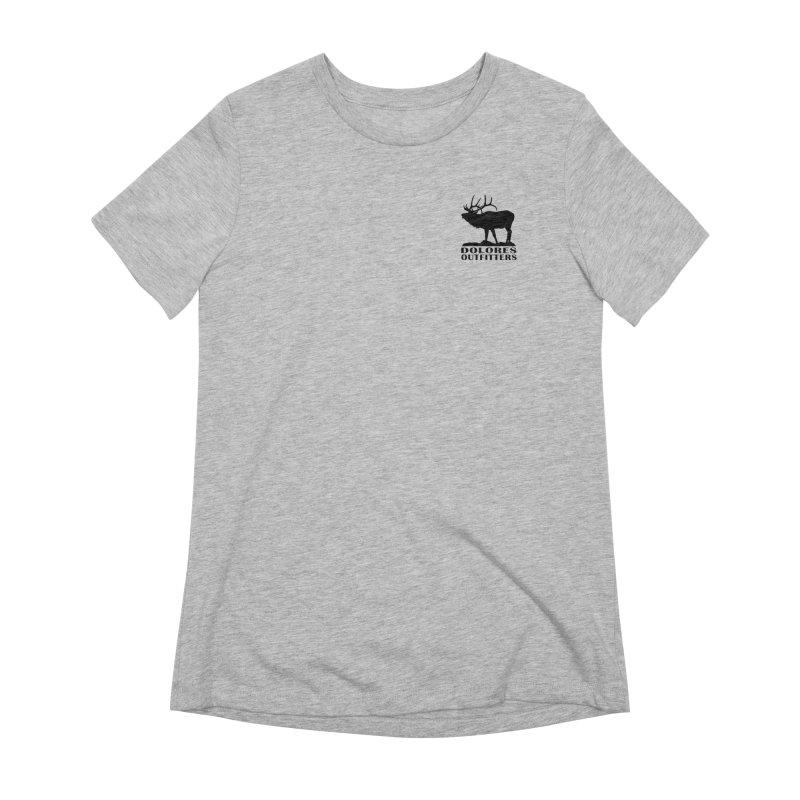 Elk Pocket Design - Black Women's Extra Soft T-Shirt by dolores outfitters's Artist Shop