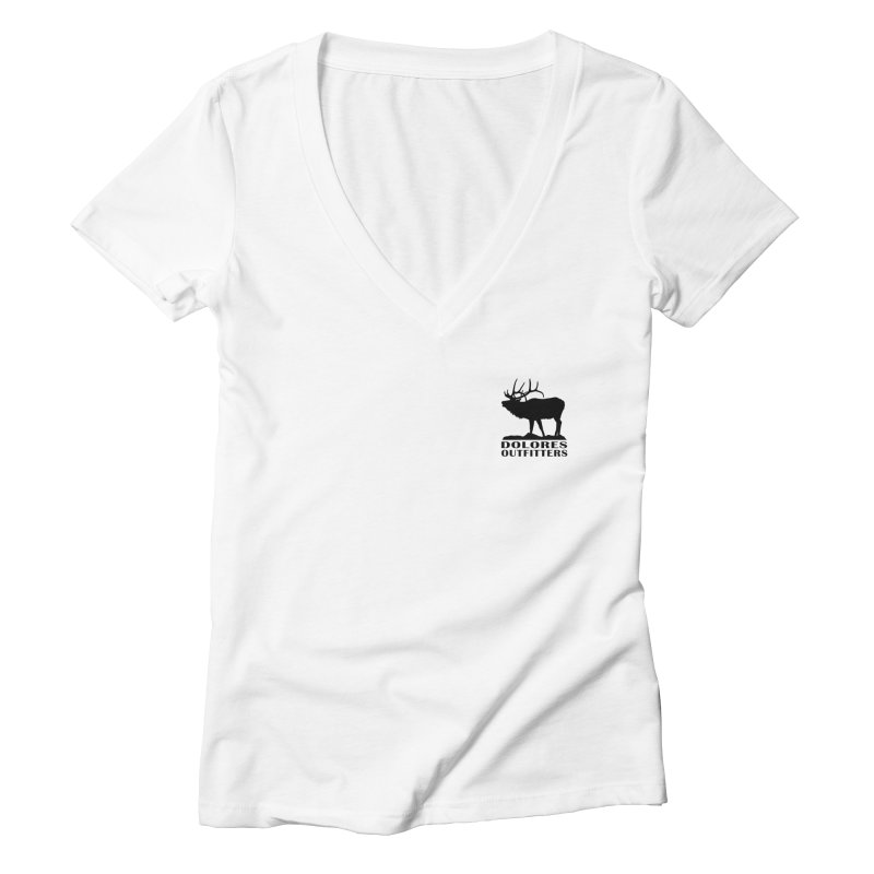 Elk Pocket Design - Black Women's Deep V-Neck V-Neck by dolores outfitters's Artist Shop
