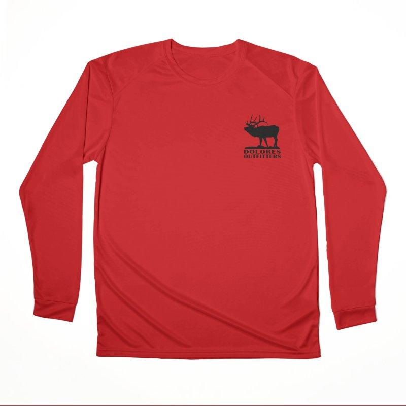 Elk Pocket Design - Black Men's Performance Longsleeve T-Shirt by dolores outfitters's Artist Shop