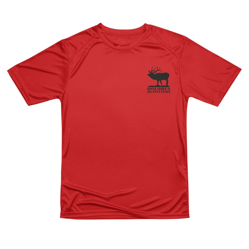 Elk Pocket Design - Black Men's Performance T-Shirt by dolores outfitters's Artist Shop