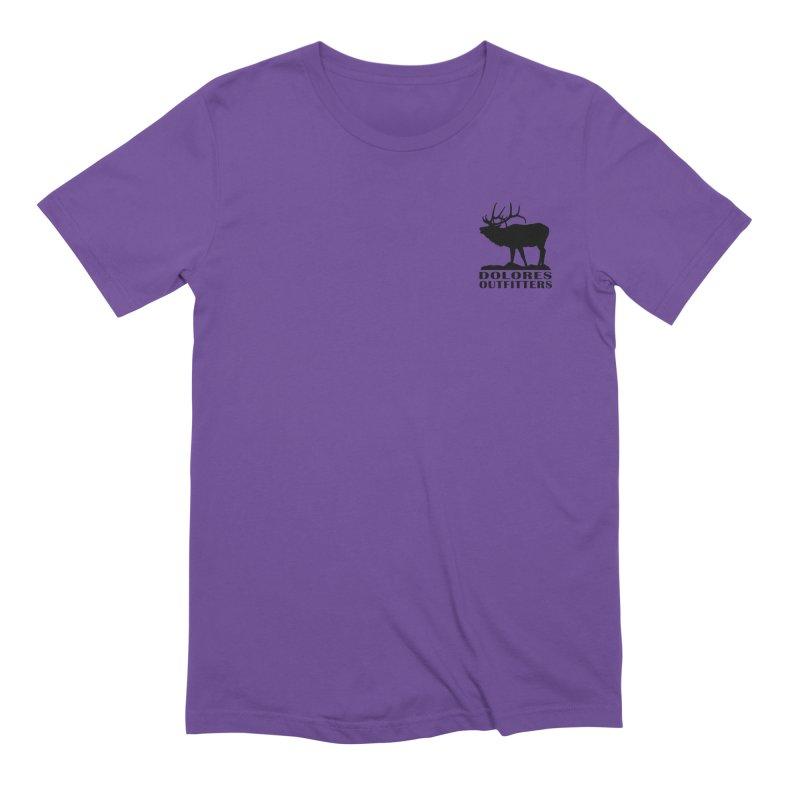 Elk Pocket Design - Black Men's Extra Soft T-Shirt by dolores outfitters's Artist Shop