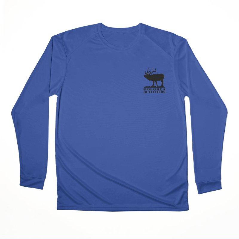 Elk Pocket Design - Black Women's Performance Unisex Longsleeve T-Shirt by dolores outfitters's Artist Shop