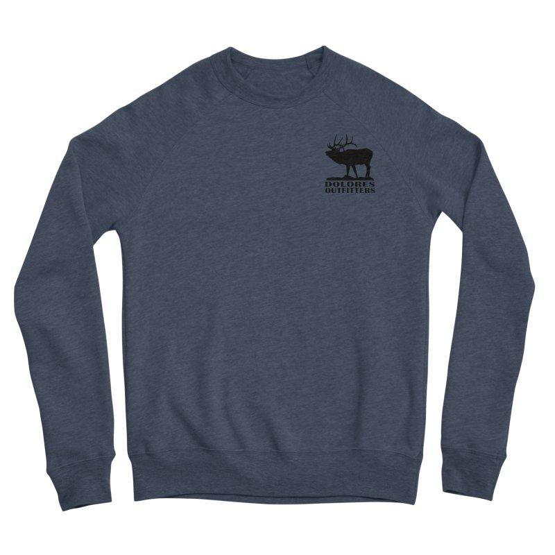 Elk Pocket Design - Black Men's Sponge Fleece Sweatshirt by dolores outfitters's Artist Shop