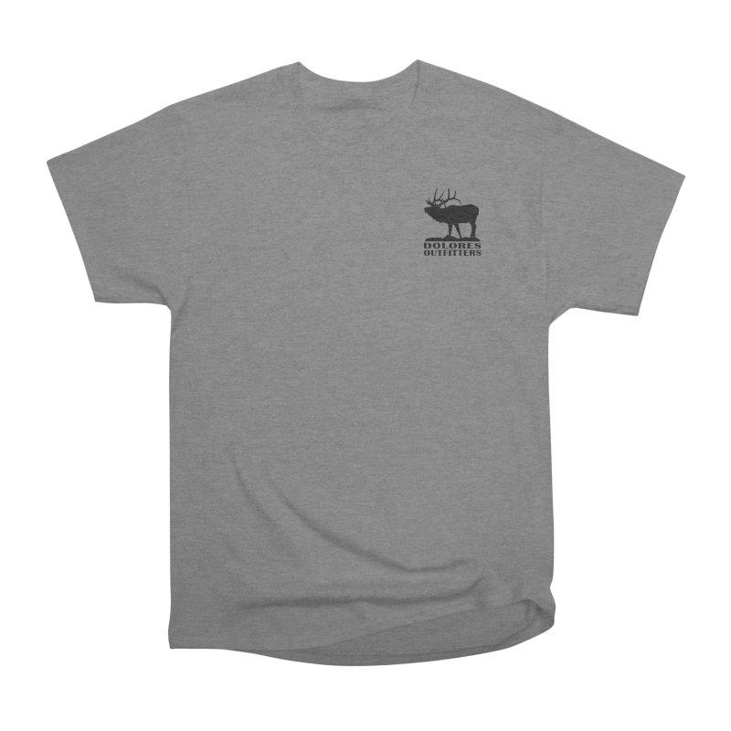 Elk Pocket Design - Black Men's Heavyweight T-Shirt by dolores outfitters's Artist Shop