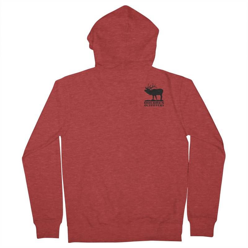 Elk Pocket Design - Black Women's French Terry Zip-Up Hoody by dolores outfitters's Artist Shop