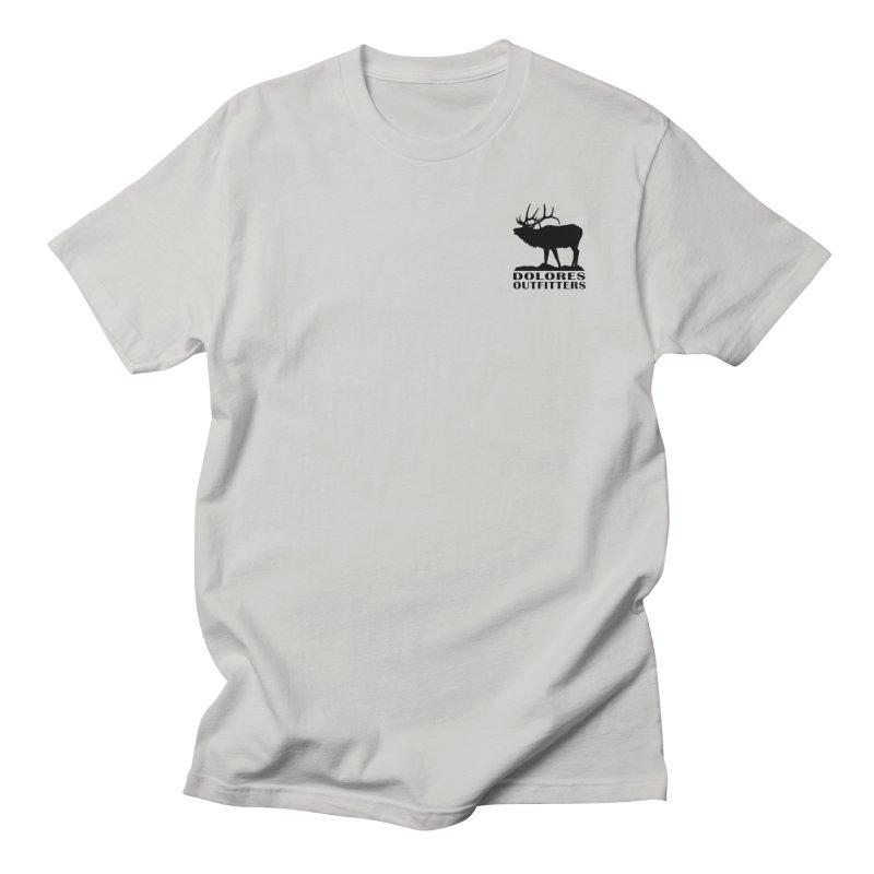 Elk Pocket Design - Black Men's Regular T-Shirt by dolores outfitters's Artist Shop
