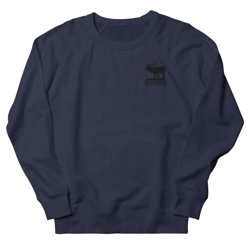 Elk Pocket Design - Black Men's French Terry Sweatshirt by dolores outfitters's Artist Shop