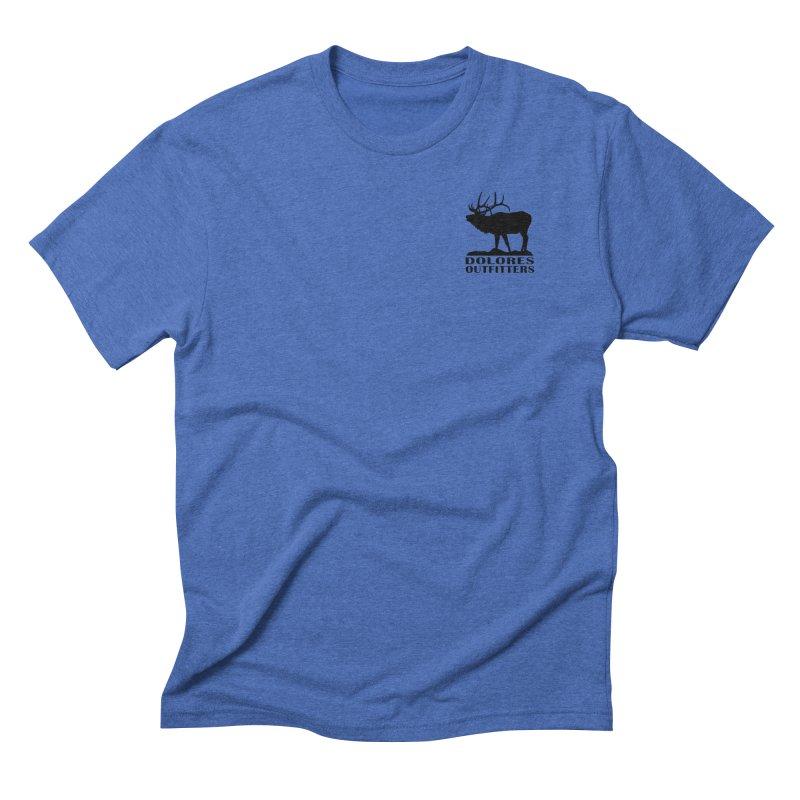 Elk Pocket Design - Black Men's T-Shirt by dolores outfitters's Artist Shop