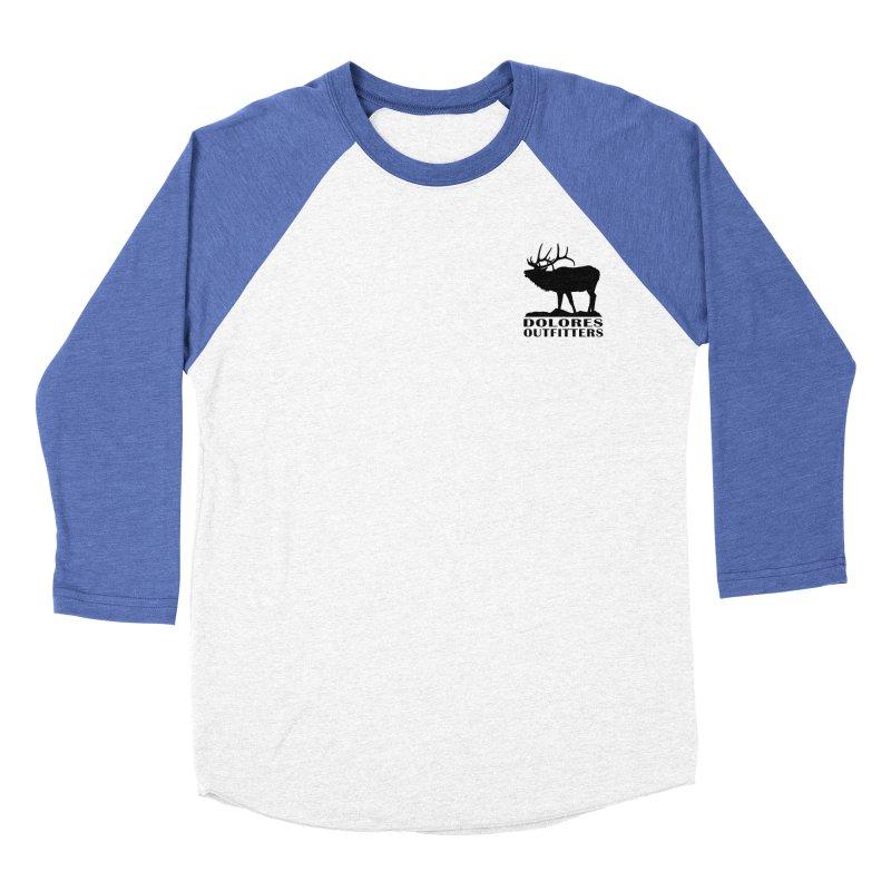 Elk Pocket Design - Black Men's Baseball Triblend Longsleeve T-Shirt by dolores outfitters's Artist Shop