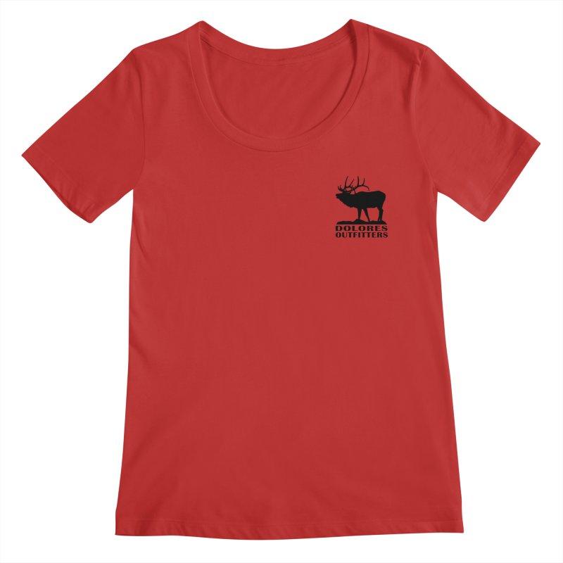 Elk Pocket Design - Black Women's Regular Scoop Neck by dolores outfitters's Artist Shop