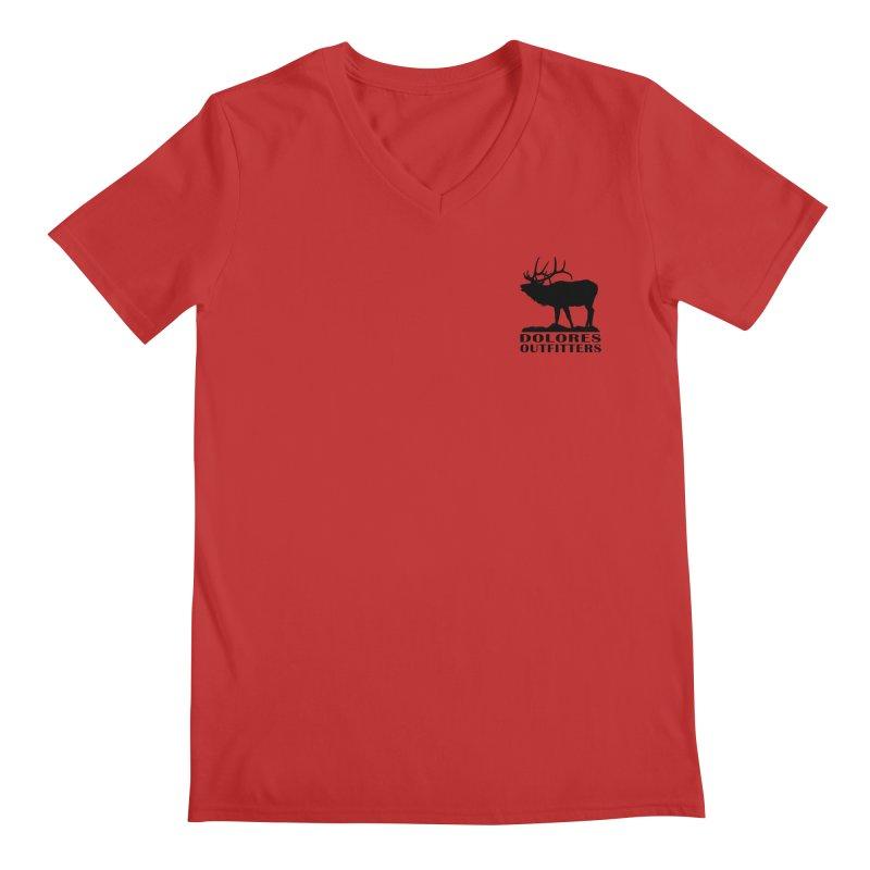 Elk Pocket Design - Black Men's Regular V-Neck by dolores outfitters's Artist Shop