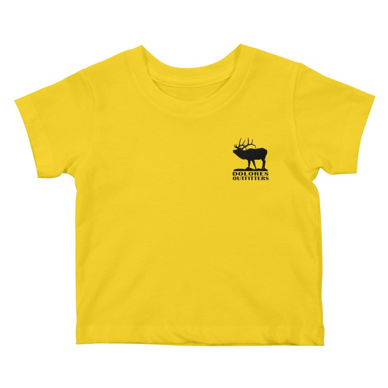 Elk Pocket Design - Black Kids Baby T-Shirt by dolores outfitters's Artist Shop