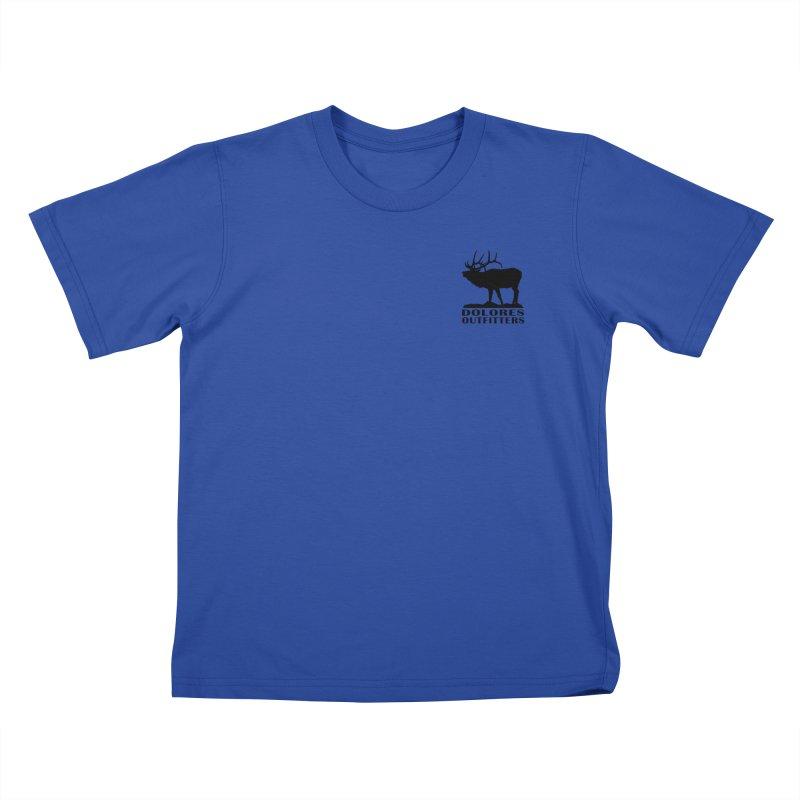 Elk Pocket Design - Black Kids T-Shirt by dolores outfitters's Artist Shop