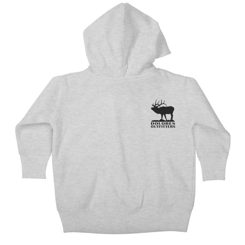 Elk Pocket Design - Black Kids Baby Zip-Up Hoody by dolores outfitters's Artist Shop