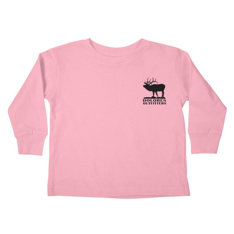 Elk Pocket Design - Black Kids Toddler Longsleeve T-Shirt by dolores outfitters's Artist Shop