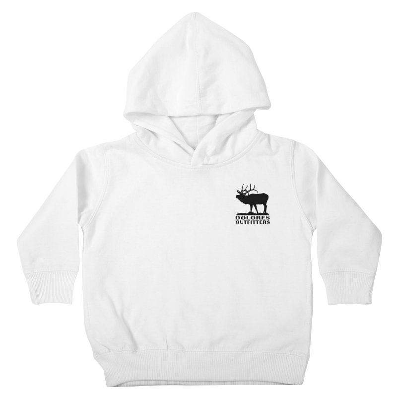 Elk Pocket Design - Black Kids Toddler Pullover Hoody by dolores outfitters's Artist Shop