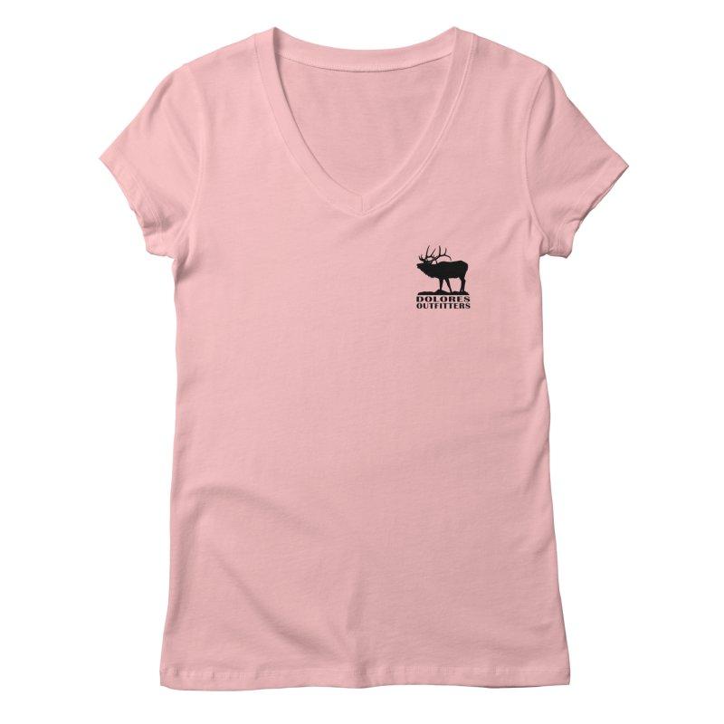 Elk Pocket Design - Black Women's Regular V-Neck by dolores outfitters's Artist Shop
