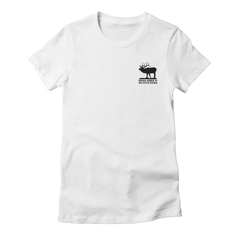 Elk Pocket Design - Black Women's Fitted T-Shirt by dolores outfitters's Artist Shop