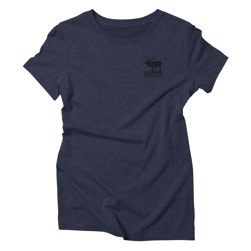 Elk Pocket Design - Black Women's Triblend T-Shirt by dolores outfitters's Artist Shop