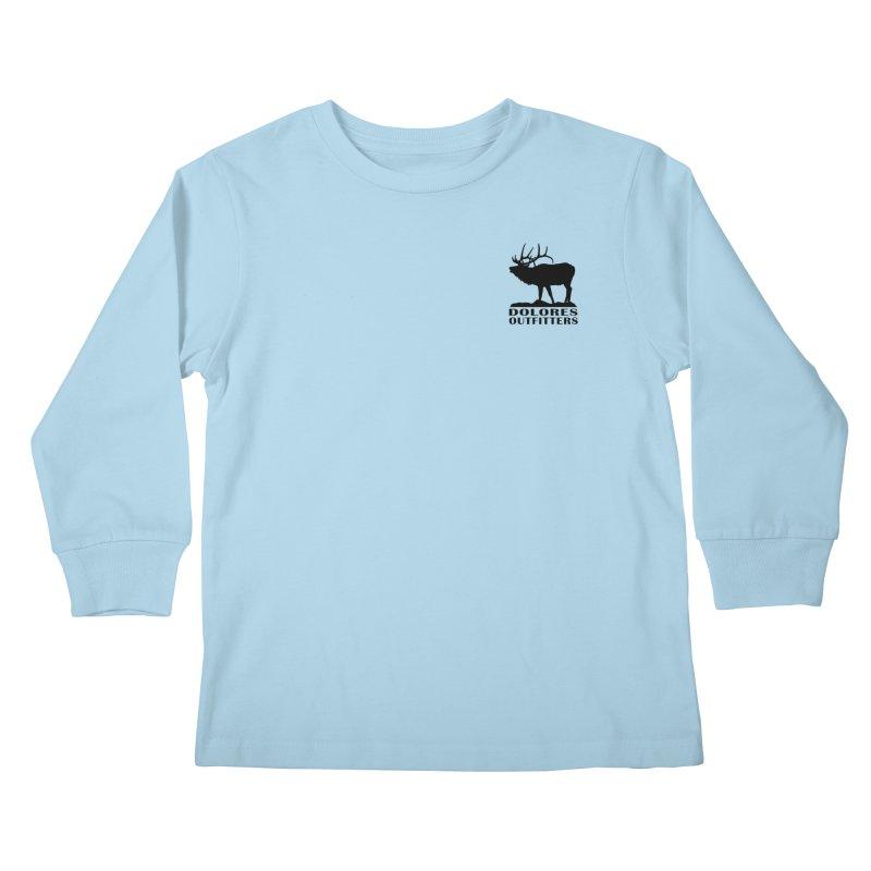 Elk Pocket Design - Black Kids Longsleeve T-Shirt by dolores outfitters's Artist Shop