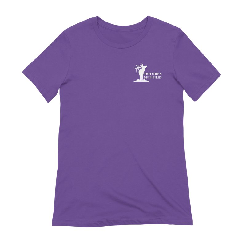 Elk Pocket Design - White Women's Extra Soft T-Shirt by dolores outfitters's Artist Shop