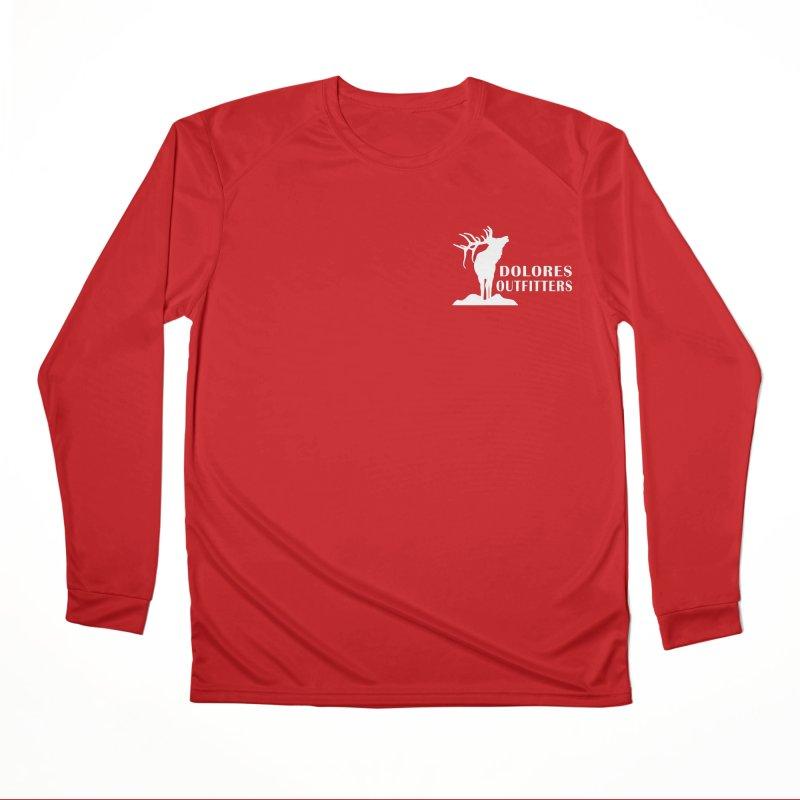 Elk Pocket Design - White Women's Performance Unisex Longsleeve T-Shirt by dolores outfitters's Artist Shop