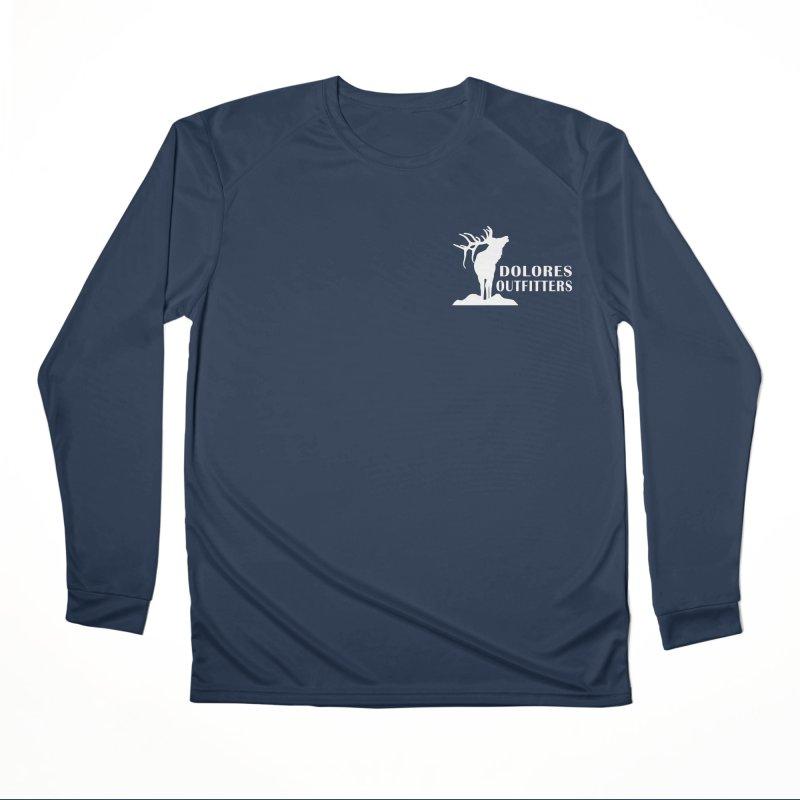 Elk Pocket Design - White Men's Performance Longsleeve T-Shirt by dolores outfitters's Artist Shop