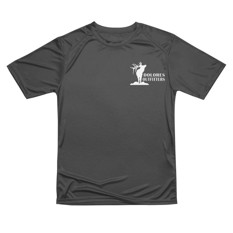Elk Pocket Design - White Women's Performance Unisex T-Shirt by dolores outfitters's Artist Shop