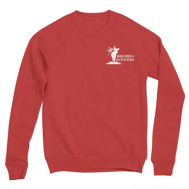 Elk Pocket Design - White Men's Sponge Fleece Sweatshirt by dolores outfitters's Artist Shop