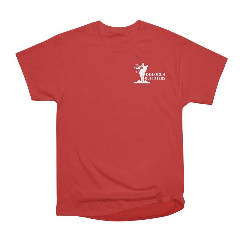 Elk Pocket Design - White Women's Heavyweight Unisex T-Shirt by dolores outfitters's Artist Shop