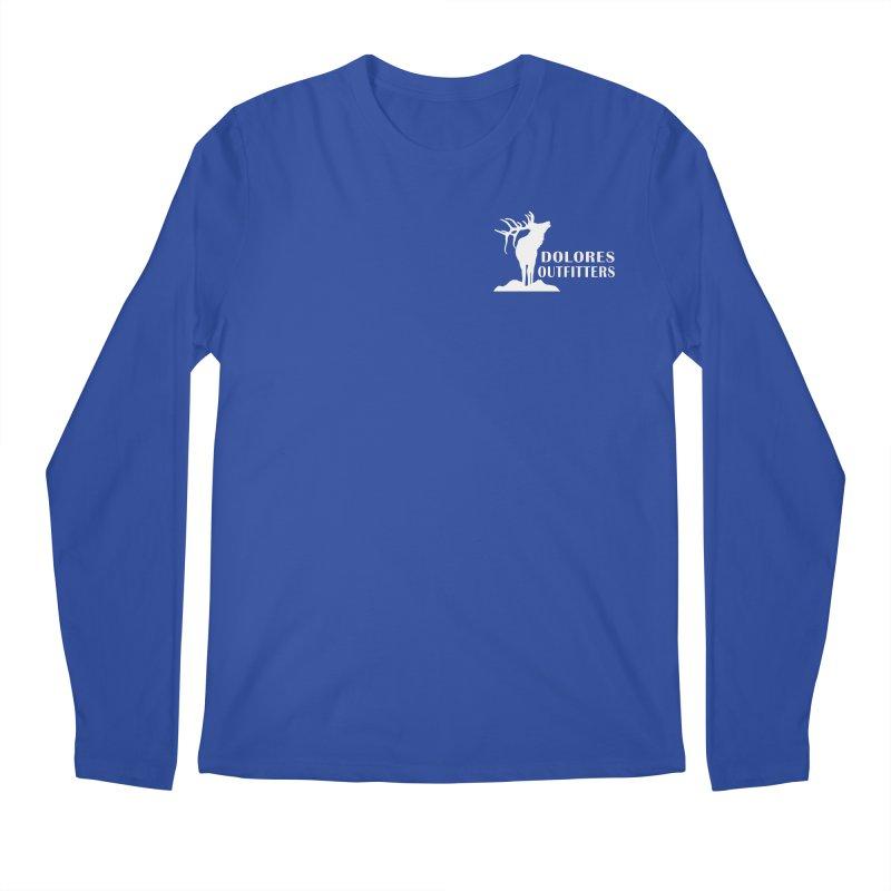 Elk Pocket Design - White Men's Regular Longsleeve T-Shirt by dolores outfitters's Artist Shop