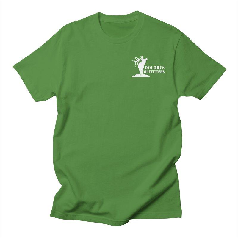 Elk Pocket Design - White Men's Regular T-Shirt by dolores outfitters's Artist Shop