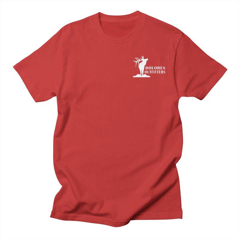 Elk Pocket Design - White Women's Regular Unisex T-Shirt by dolores outfitters's Artist Shop
