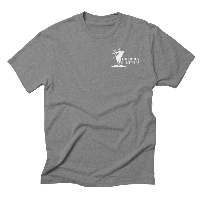 Elk Pocket Design - White Men's Triblend T-Shirt by dolores outfitters's Artist Shop
