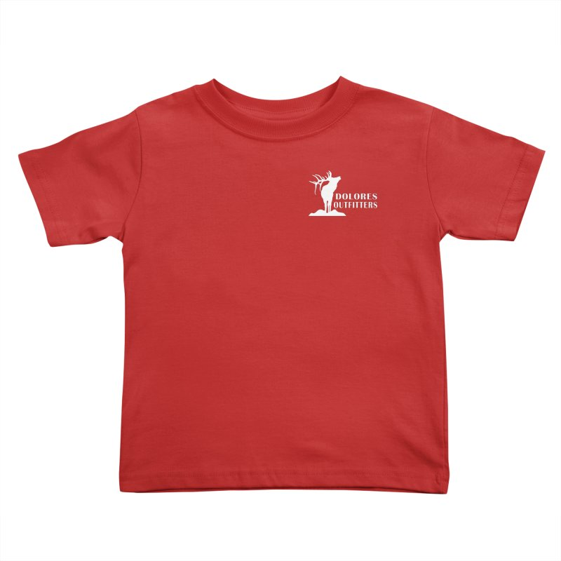 Elk Pocket Design - White Kids Toddler T-Shirt by dolores outfitters's Artist Shop