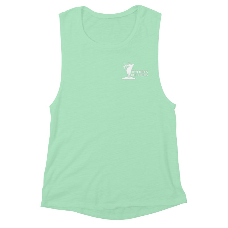 Elk Pocket Design - White Women's Muscle Tank by dolores outfitters's Artist Shop