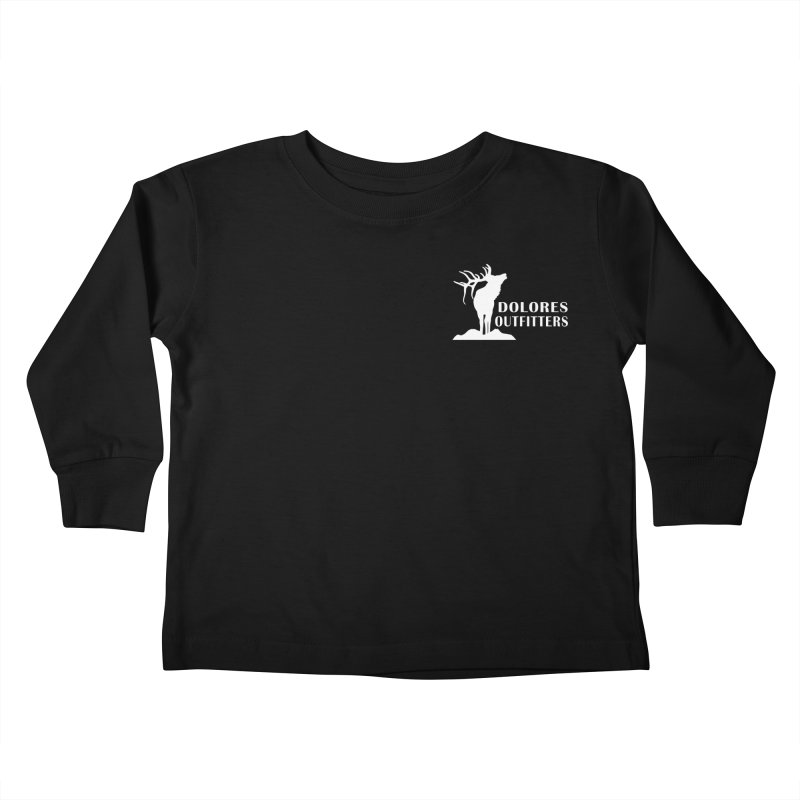Elk Pocket Design - White Kids Toddler Longsleeve T-Shirt by dolores outfitters's Artist Shop