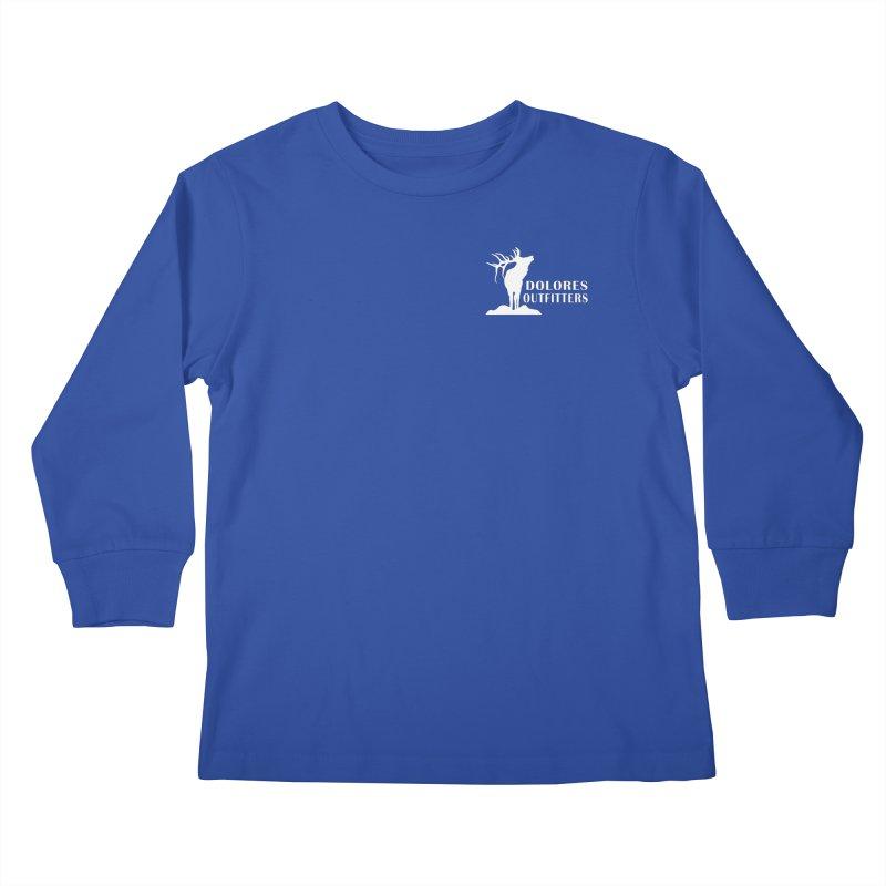 Elk Pocket Design - White Kids Longsleeve T-Shirt by dolores outfitters's Artist Shop
