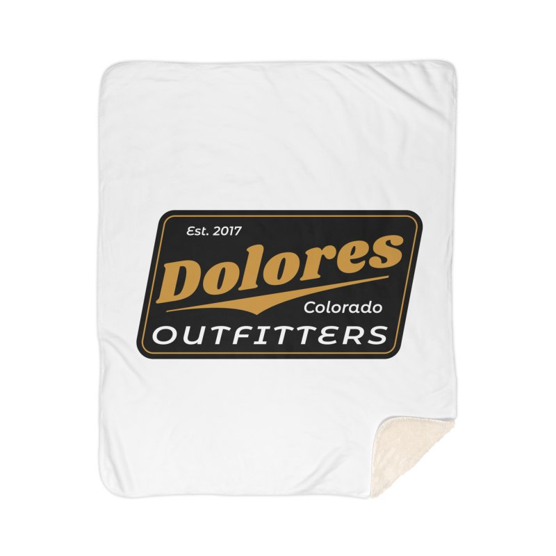 Dolores Outfitters Beer Logo Home Sherpa Blanket Blanket by dolores outfitters's Artist Shop