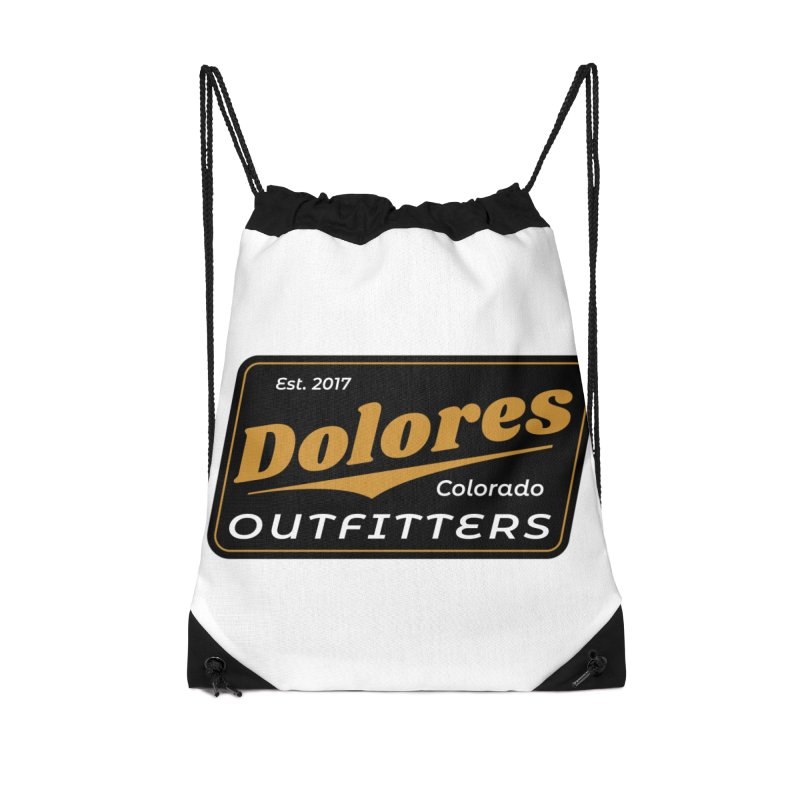 Dolores Outfitters Beer Logo Accessories Drawstring Bag Bag by dolores outfitters's Artist Shop