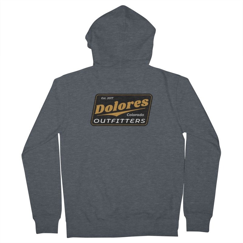 Dolores Outfitters Beer Logo Men's French Terry Zip-Up Hoody by dolores outfitters's Artist Shop