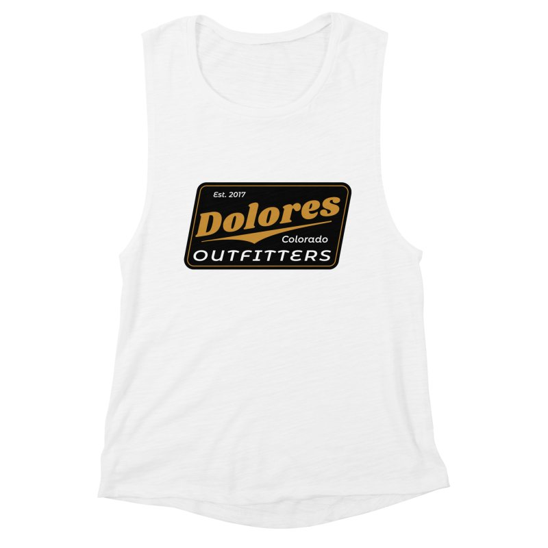 Dolores Outfitters Beer Logo Women's Muscle Tank by dolores outfitters's Artist Shop