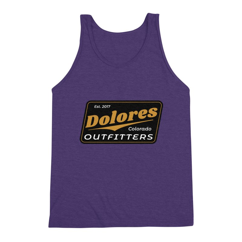 Dolores Outfitters Beer Logo Men's Triblend Tank by dolores outfitters's Artist Shop