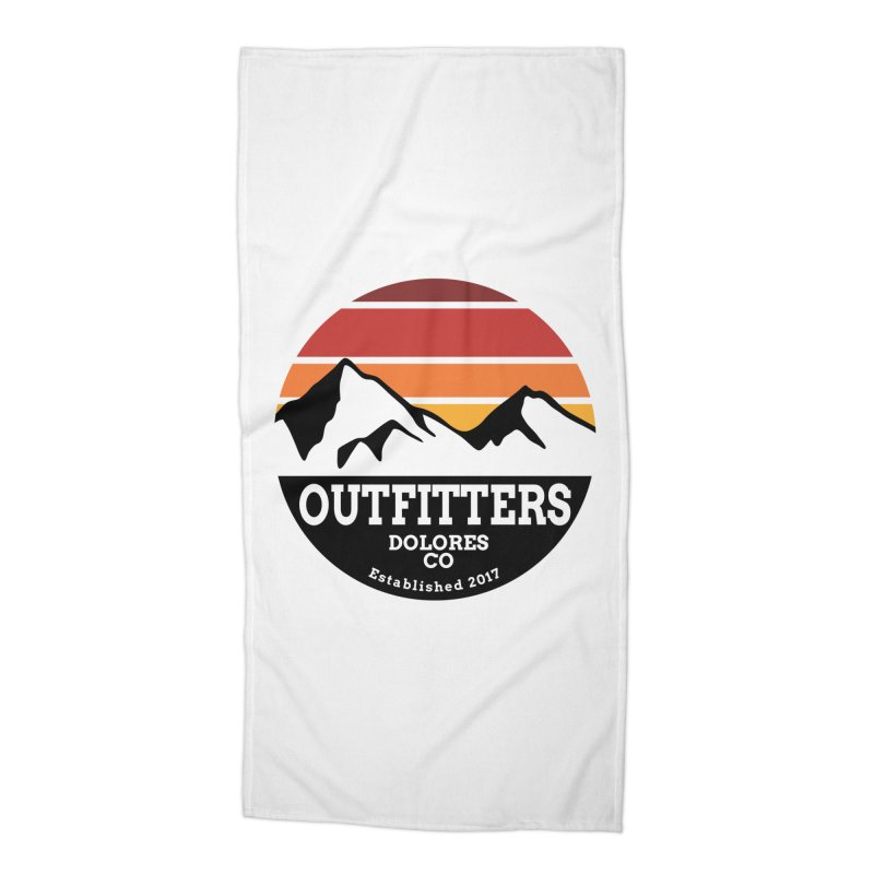 Dolores Outfitters Sunset Logo Accessories Beach Towel by dolores outfitters's Artist Shop