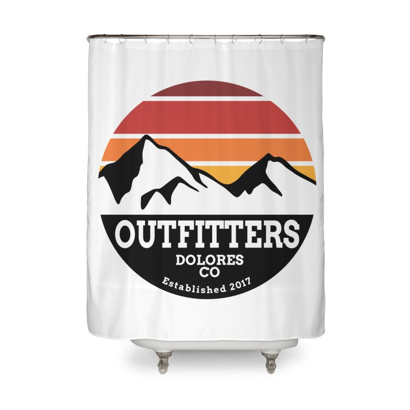 Dolores Outfitters Sunset Logo Home Shower Curtain by dolores outfitters's Artist Shop