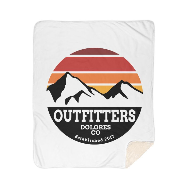 Dolores Outfitters Sunset Logo Home Sherpa Blanket Blanket by dolores outfitters's Artist Shop