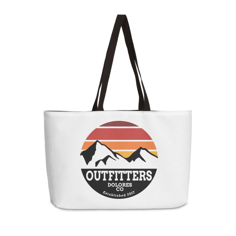 Dolores Outfitters Sunset Logo Accessories Weekender Bag Bag by dolores outfitters's Artist Shop